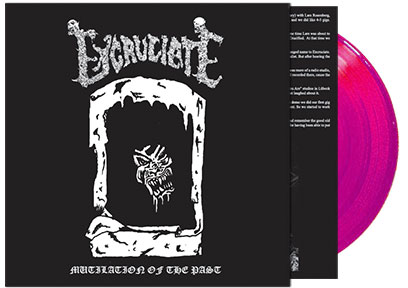 EXCRUCIATE (Swe) Mutilation of the Past Official LP Black - Click Image to Close